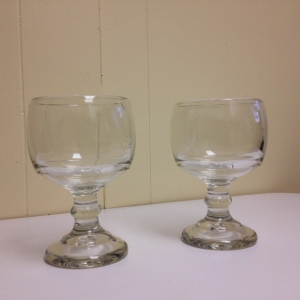 My two dessert glasses $2 each!!